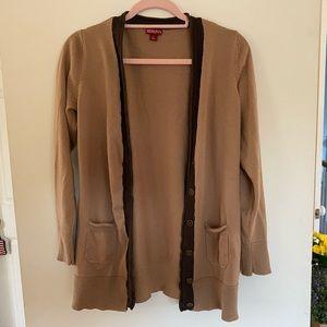 Target Brown Sweater with Dark Trim